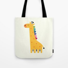 Giraffe Piano Tote Bag