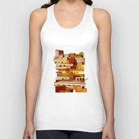 team fortress Tank Tops featuring The fortress at sunset by Chicca Besso