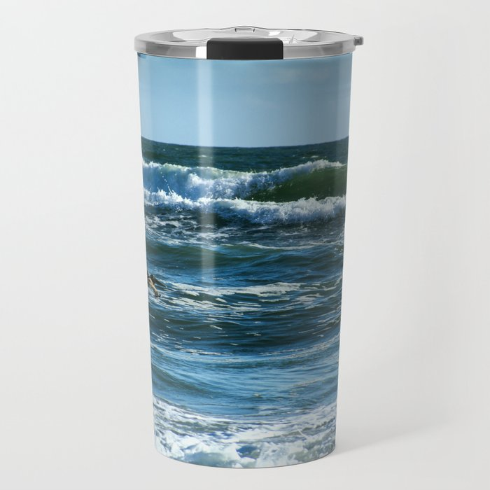 Pelicans Surf Top Flying Travel Mug