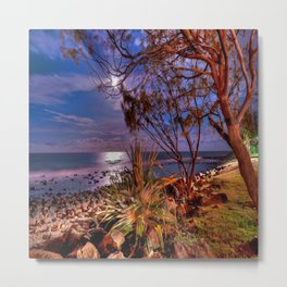 The Beach Side After Sunset Metal Print