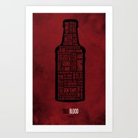 true blood Art Prints featuring True Blood by Luke Eckstein
