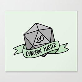 Dungeon Master D20 Canvas Print