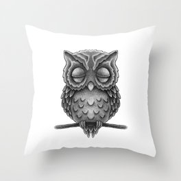Sleeping Owl Throw Pillow