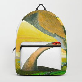 Hooping Crane John James Audubon Birds Of America Scientific Illustration Backpack