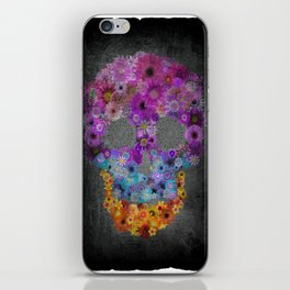 Sugar Skull Made Of Flowers iPhone Skin