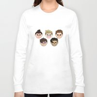 animal crossing Long Sleeve T-shirts featuring Animal Crossing One Direction by Pinkeyyou