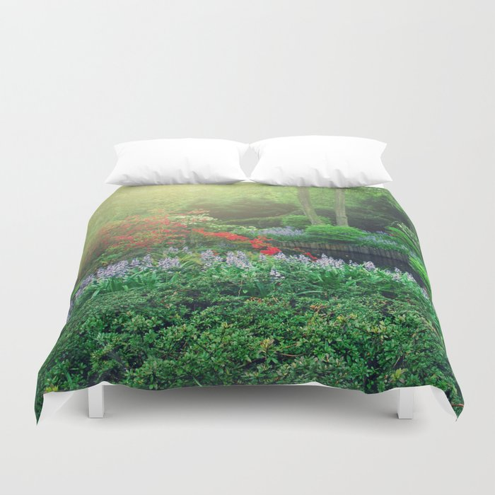 Fantasy garden Duvet Cover