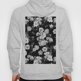 Black and White Botanic Pattern Hoody