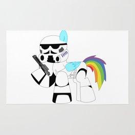 Unicorn Trooper Rainbow Rug