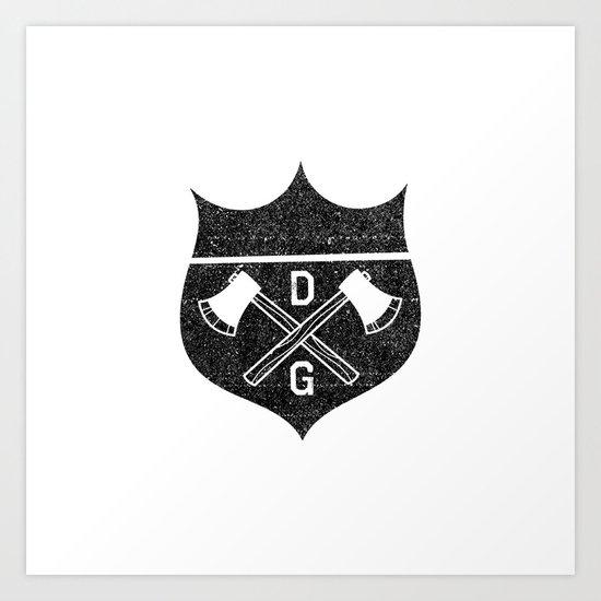 Damaged Goods Shield Art Print