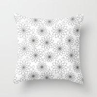 stark Throw Pillows featuring Stark Flowers by SonyaDeHart