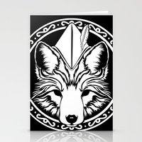 robin hood Stationery Cards featuring Foxin Hood by AdamAether