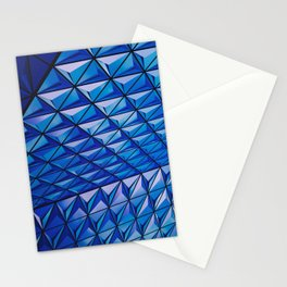 Blue Geometric Pattern Stationery Cards