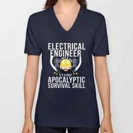 Electrical Engineer Apocalytic Survival Skill Unisex V-Neck