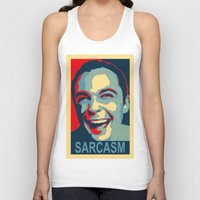 sarcasm Tank Tops featuring Sarcasm by kelpie