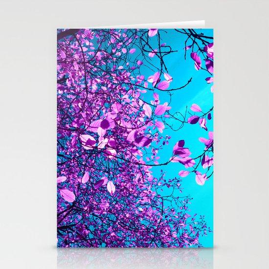 purple tree XXIII Stationery Cards