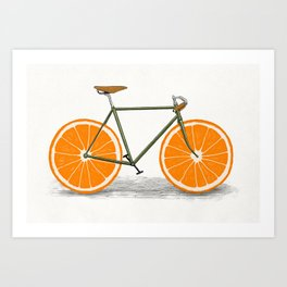 Zest (Orange Wheels) Art Print