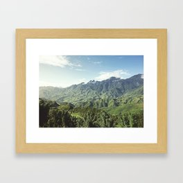 Morning Mountains  Framed Art Print