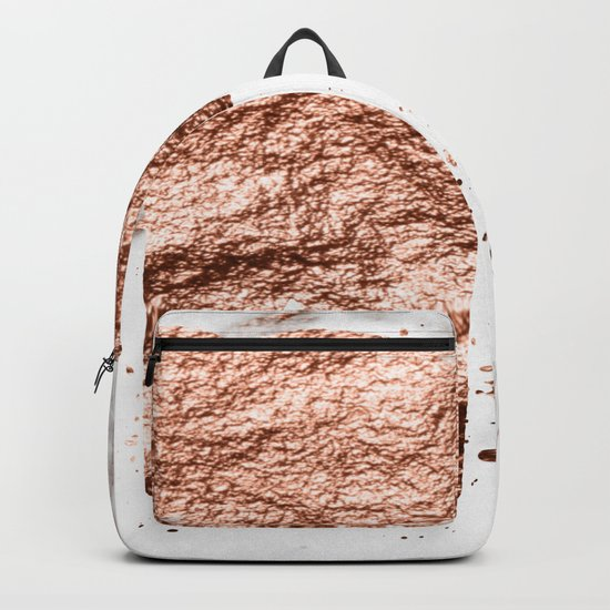 Elephant - rose gold marble Backpack