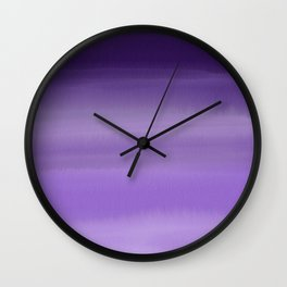Modern painted purple lavender ombre watercolor Wall Clock