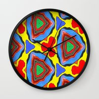 trippy Wall Clocks featuring Trippy by Erin Brekke Conn