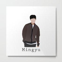 Seventeen - Mingyu Metal Print