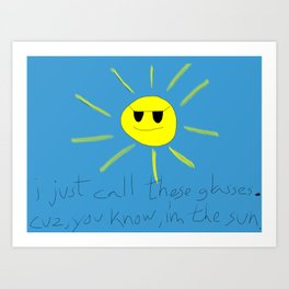 sun glasses Art Print