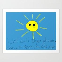 sun glasses Art Print