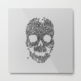 Panda is Cool (Grey) Metal Print