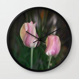 Twin Tulips Wall Clock