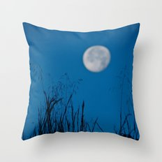 Faded Moon Throw Pillow
