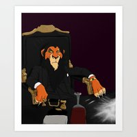 scarface Art Prints featuring Scarface by Misha Libertee