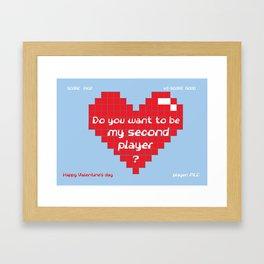 Love for Gamers Framed Art Print