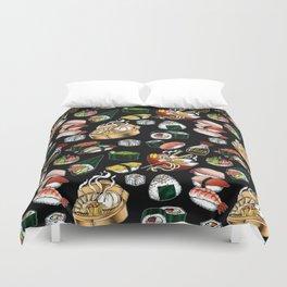 Sushi Black Duvet Cover