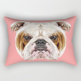 English Bulldog // Pink Rectangular Pillow