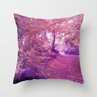 wander Throw Pillows featuring wander by Luiza Lazar