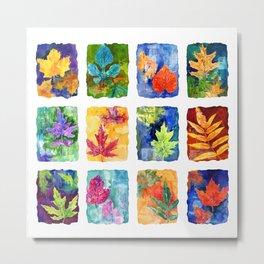 Colorful Summer Leaves Metal Print