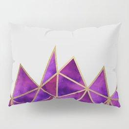 Purple & Gold Geometric Pillow Sham