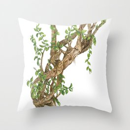 Twisting woods Throw Pillow