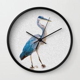 Blue Heron Silhouette Wall Clock