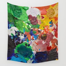 Palette of Colors Wall Tapestry