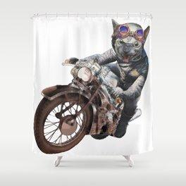 Cat Racer Shower Curtain