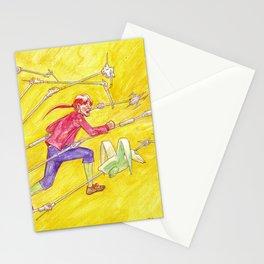 John Difool running away Stationery Cards