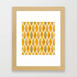 Golden Scales Framed Art Print