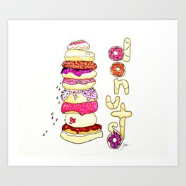Donut Shop Art Print