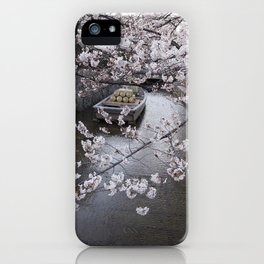 cherry blossoms in Japan iPhone Case