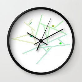 Green lines Wall Clock