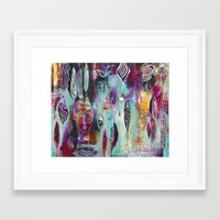 "flora bowley Framed Art Prints featuring ""Muse Dance"" Original Painting by Flora Bowley by Flora Bowley"