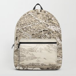 Vintage Lancaster OH Map (1885) Backpack