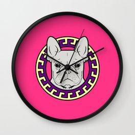 French Caviar - Lollipop Pink Wall Clock